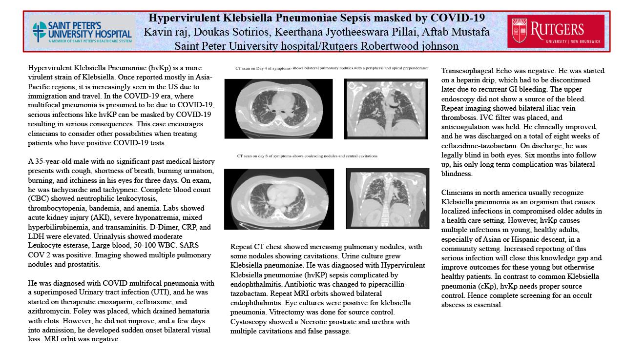 20-CV-45-Hypervirulent Klebsiella Pneumoniae Sepsis masked by COVID-19