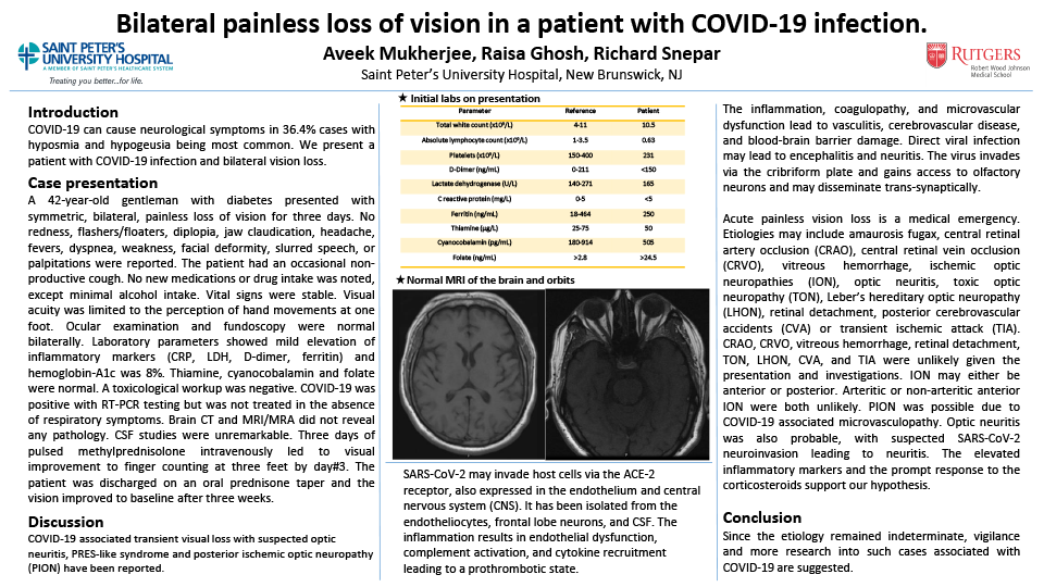 25-CV-80-Bilateral painless loss of vision in a patient with COVID-19 infection