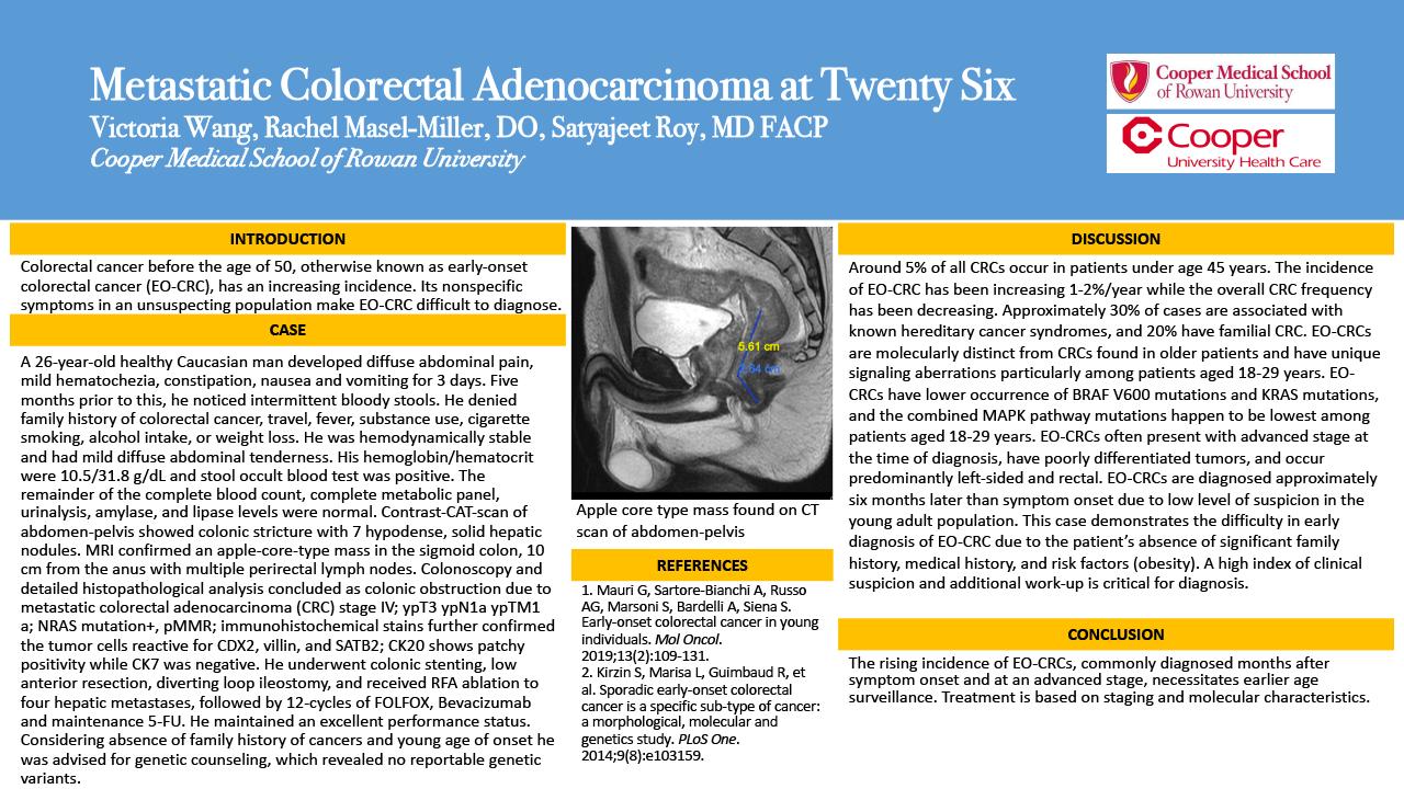 38-CVS-3-Metastatic Colorectal Adenocarcinoma at Twenty Six